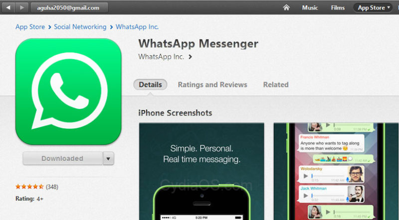 Download WhatsApp on iPad