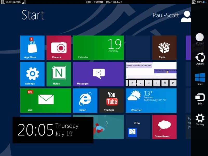 WINPAD8 iPad theme