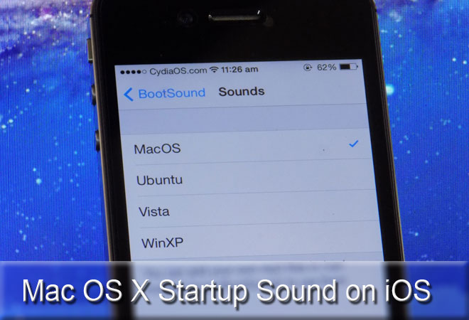 How to Add Startup Sound on iOS 7 (Mac OS X Boot Sound)