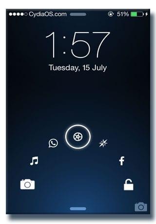 app shortcut on lockscreen iphone ios7