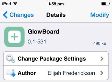 glowboard free cydia tweak