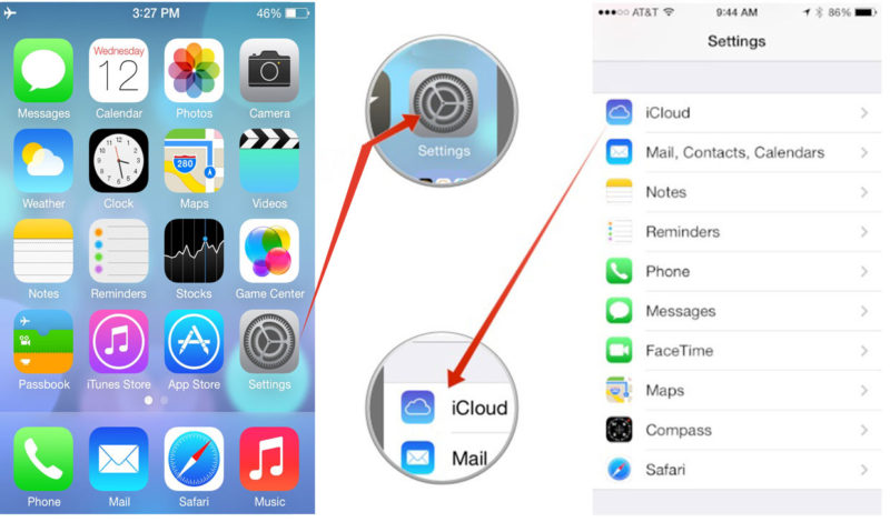 restore iCloud contacts to iPhone