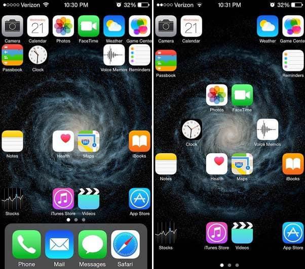 Anchor Cydia tweak iOS 8.1.2