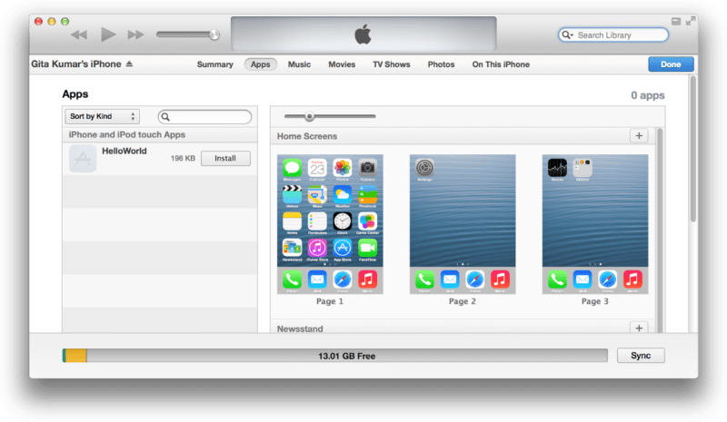 Re-installing the App from PC or Mac via iTunes: