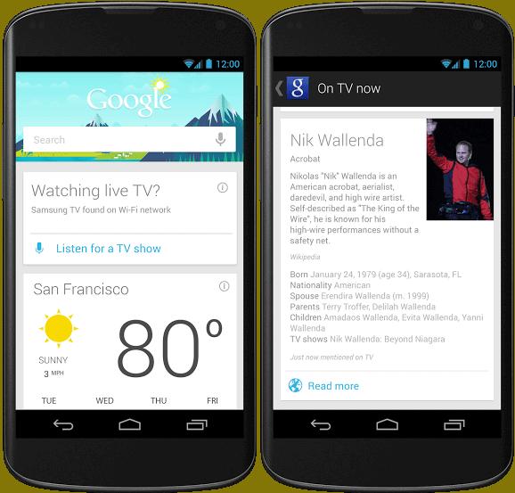 Samsung Galaxy S5 Google Now